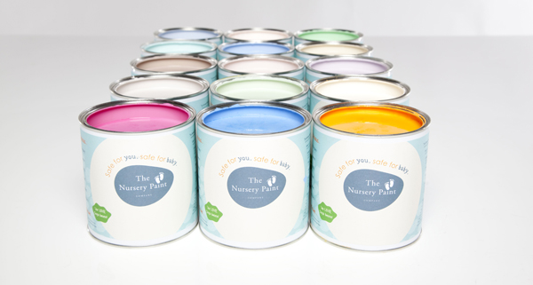Rows of paint tins